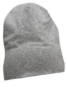 Print Hat Long Grå